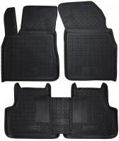 Коврики в салон для Audi Q7 '15- резиновые, черные (AVTO-Gumm)