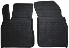 Коврики в салон передние для Audi Q7 '15- резиновые, черные (AVTO-Gumm)
