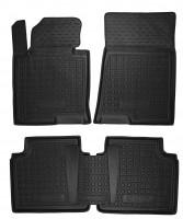 Коврики в салон для Hyundai Sonata '15- резиновые, черные (AVTO-Gumm)
