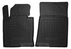 Коврики в салон передние для Hyundai Sonata '15- резиновые, черные (AVTO-Gumm)