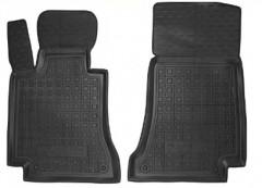 Коврики в салон передние для Mercedes C-class W205 '14- резиновые, черные (AVTO-Gumm)