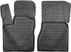 Коврики в салон передние для Smart Fortwo '14- резиновые, черные (AVTO-Gumm)