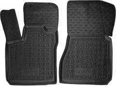 Коврики в салон передние для Smart Forfour '14- резиновые, черные (AVTO-Gumm)