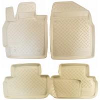 Коврики в салон для Mazda CX-7 '06-12 полиуретановые, бежевые (Nor-Plast)