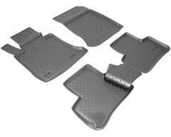 Коврики в салон для Mercedes GLK-Class X204 '09- полиуретановые, черные (Nor-Plast)