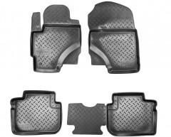 Коврики в салон для Mitsubishi Colt '03-10 полиуретановые, черные (Nor-Plast)