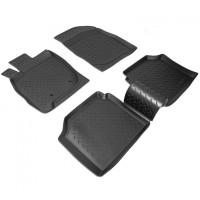 Коврики в салон для Mitsubishi Galant '04-12 полиуретановые, черные (Nor-Plast)
