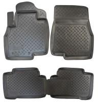Коврики в салон для Mitsubishi Grandis '03-11 полиуретановые, черные (Nor-Plast)