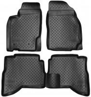 Коврики в салон для Mitsubishi Pajero Sport '98-08 полиуретановые, черные (Nor-Plast)