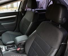 Авточехлы Premium для салона Opel Vectra C '02-08 серая строчка (MW Brothers)