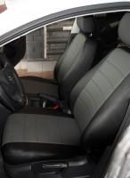Авточехлы из экокожи L-LINE для салона Volkswagen Golf V '04-09, серая вставка (AVTO-MANIA)