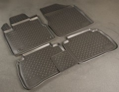 Коврики в салон для Nissan Murano '08- полиуретановые, черные (Nor-Plast)
