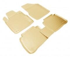 Коврики в салон для Nissan Murano '08- полиуретановые, бежевые (Nor-Plast)