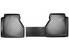 Коврики в салон для Nissan Navara '10-14 полиуретановые, черные (Nor-Plast) задние, люкс