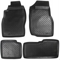 Коврики в салон для Nissan Patrol '04-09 полиуретановые, черные (Nor-Plast)