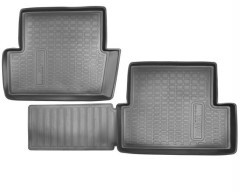 Коврики в салон для Nissan Qashqai '06-14 полиуретановые, черные (Nor-Plast) задние
