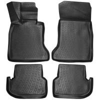 Коврики в салон для BMW 5 F7 /F10 / 11 '13-16 полиуретановые, черные (L.Locker)