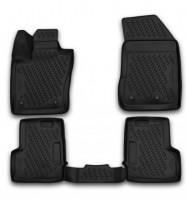 Коврики в салон для Jeep Renegade '15- полиуретановые, черные (Novline / Element) 3D