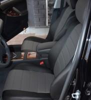 Авточехлы из экокожи L-LINE для салона Toyota Camry V40 '06-11, серая вставка (AVTO-MANIA)