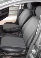Авточехлы из экокожи L-LINE для салона Opel Astra G '98-10, седан/хетчбек, серая вставка (AVTO-MANIA)