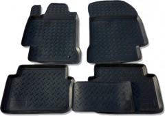 Коврики в салон для Renault Laguna '07-15 полиуретановые, черные (Nor-Plast)