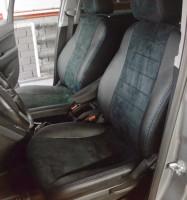 Авточехлы из экокожи S-LINE для салона Chevrolet Orlando '11-, 5 мест, алькантара, синяя строчка (AVTO-MANIA)