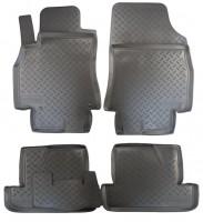 Коврики в салон для Renault Megane '08-16 полиуретановые, черные (Nor-Plast)