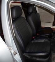 Авточехлы из экокожи X-LINE для салона Volkswagen Golf IV '97-03, синяя строчка (AVTO-MANIA)