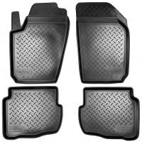 Коврики в салон для Saab 9-5 '06-12 полиуретановые, черные (Nor-Plast)