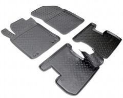 Коврики в салон для Citroen C3  '10-16 полиуретановые, черные (Nor-Plast)