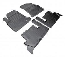 Коврики в салон для Citroen C4 Picasso '06-13 (2 ряда) полиуретановые, черные (Nor-Plast)