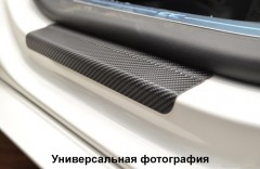 Фото 1 - Накладки на пороги карбон для Hyundai Tucson '15- (Premium+k)