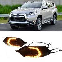 Дневные ходовые огни для Mitsubishi Pagero Sport '16- (LED-DRL)