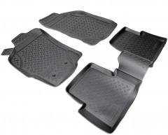 Коврики в салон для Fiat Albea '02-11 полиуретановые, черные (Nor-Plast)