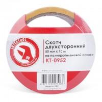 Скотч двухсторонний 50 мм*10 м на полипропиленовой основе KT-0952 (Intertool)