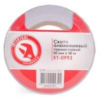 Скотч алюминиевый термостойкий 50 мм*50 м KT-0993 (Intertool)