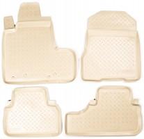Коврики в салон для Honda CR-V '06-12 полиуретановые, бежевые (Nor-Plast) с сабв.