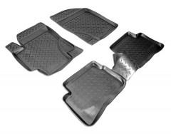 Коврики в салон для Hyundai Accent '06-10 полиуретановые (Nor-Plast)