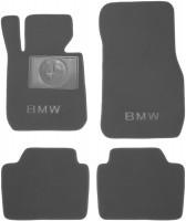 Коврики в салон для BMW 3 F30 '12- текстильные, серые (Премиум)