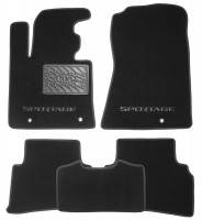 Коврики в салон для Kia Sportage '16- текстильные, черные (Премиум)