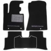 Коврики в салон для Kia Sportage '16- текстильные, серые (Люкс)