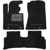 Коврики в салон для Kia Sportage '16- текстильные, черные (Люкс)
