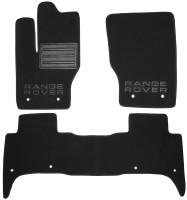 Коврики в салон для Land Rover Range Rover Sport '13- текстильные, черные (Премиум)