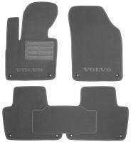 Коврики в салон для Volvo XC 90 '15- текстильные, серые (Премиум) 8 клипс
