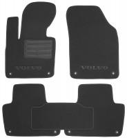 Коврики в салон для Volvo XC 90 '15- текстильные, черные (Люкс) 8 клипс
