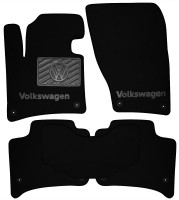 Коврики в салон для Volkswagen Touareg '10-18 текстильные, черные (Премиум) 8 клипс