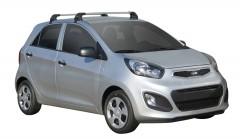 Багажник на крышу для Kia Picanto '11-, до края опоры (Whispbar-Prorack)