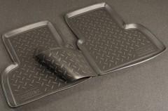Коврики в салон для Fiat Doblo '01-09 полиуретановые, черные (Nor-Plast) задние