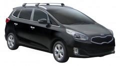 Багажник на низкие рейлинги для Kia Carens '13-, до края опоры (Whispbar-Prorack)