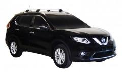 Багажник на рейлинги для Nissan X-Trail (T32) '14-, до края опоры (Whispbar-Prorack)